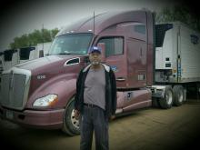Larry Brown and his truck